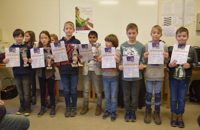 Die Preisträger der U10-Klasse