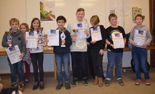 Die Preisträger der U12-Klasse