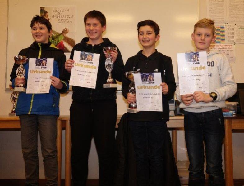 Die Preisträger der U14-Klasse